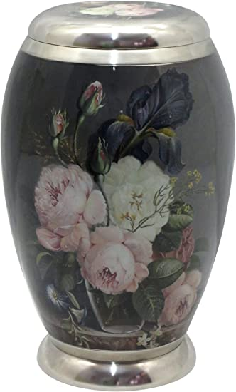 Amazon Com Urn For Human Ashes Brass Rose Cremation Urn Memorial Adult Human Urn With Velvet Bag Urns For Human Ashes Health Personal Care