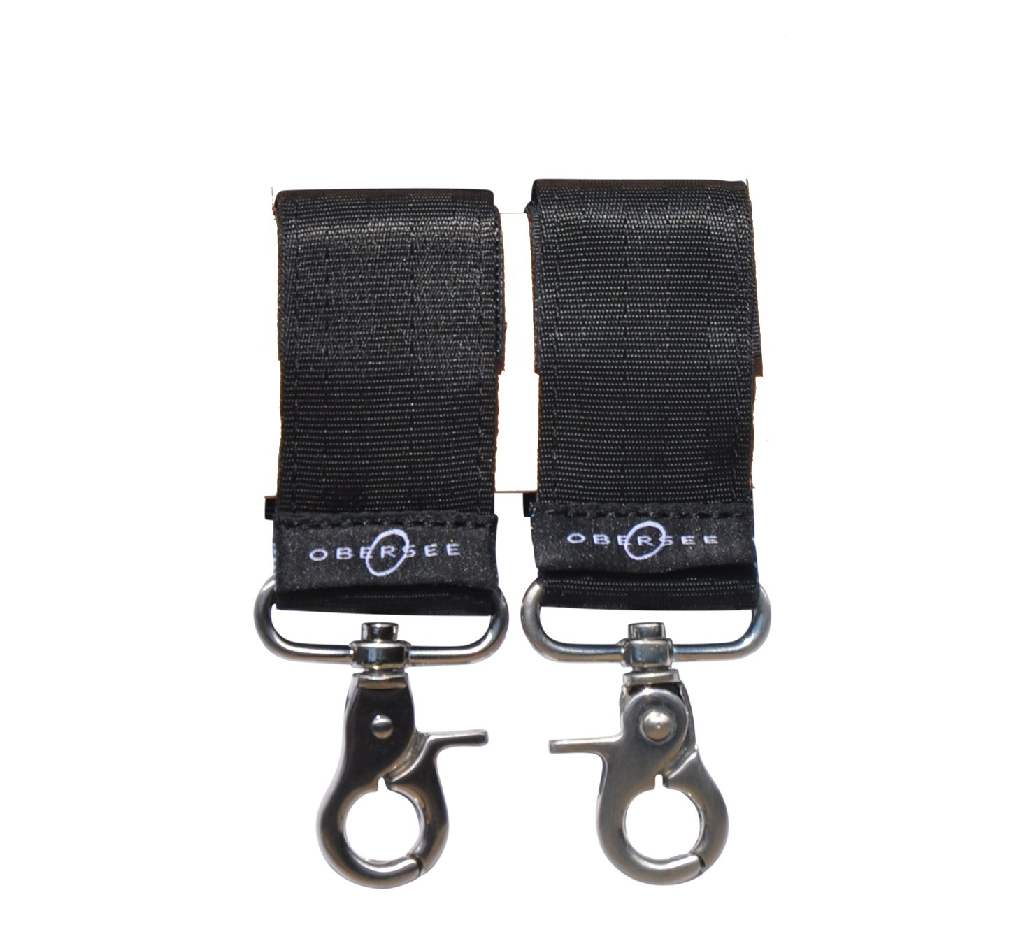 Obersee Universal Stroller Straps for Diaper Bags, Black O3SSTRAP001