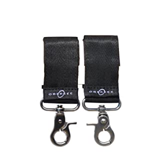 Obersee Universal Stroller Straps for Diaper Bags, Black