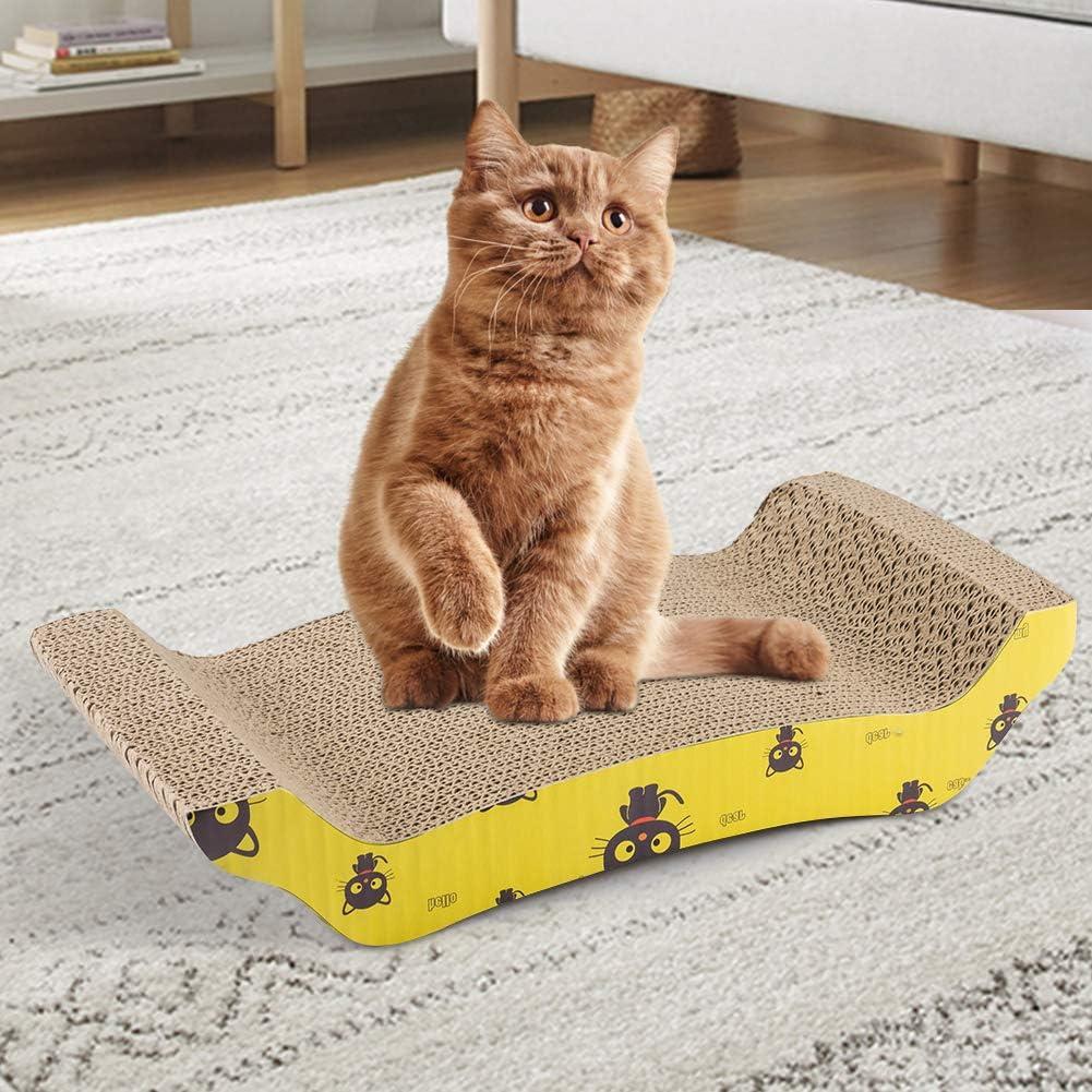 FREESOO Cat Scratcher Cardboard Scratching Board Pad Mat with Catnip