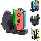 ジョイコン Joy-Con Pro コントローラー 充電 スタンド Nintendo Switch 3WAY充電可能 ニンテンドー スイッチ プローコントローラー 充電ホルダー チャージャー 充電指示LED付き …