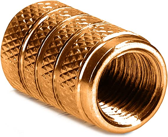 Kwmobile 5x Auto Ventilkappen Abdeckung Autoventil Schraderventil Metall Kappen Pkw Fahrrad Motorrad Ventildeckel In Gold Auto