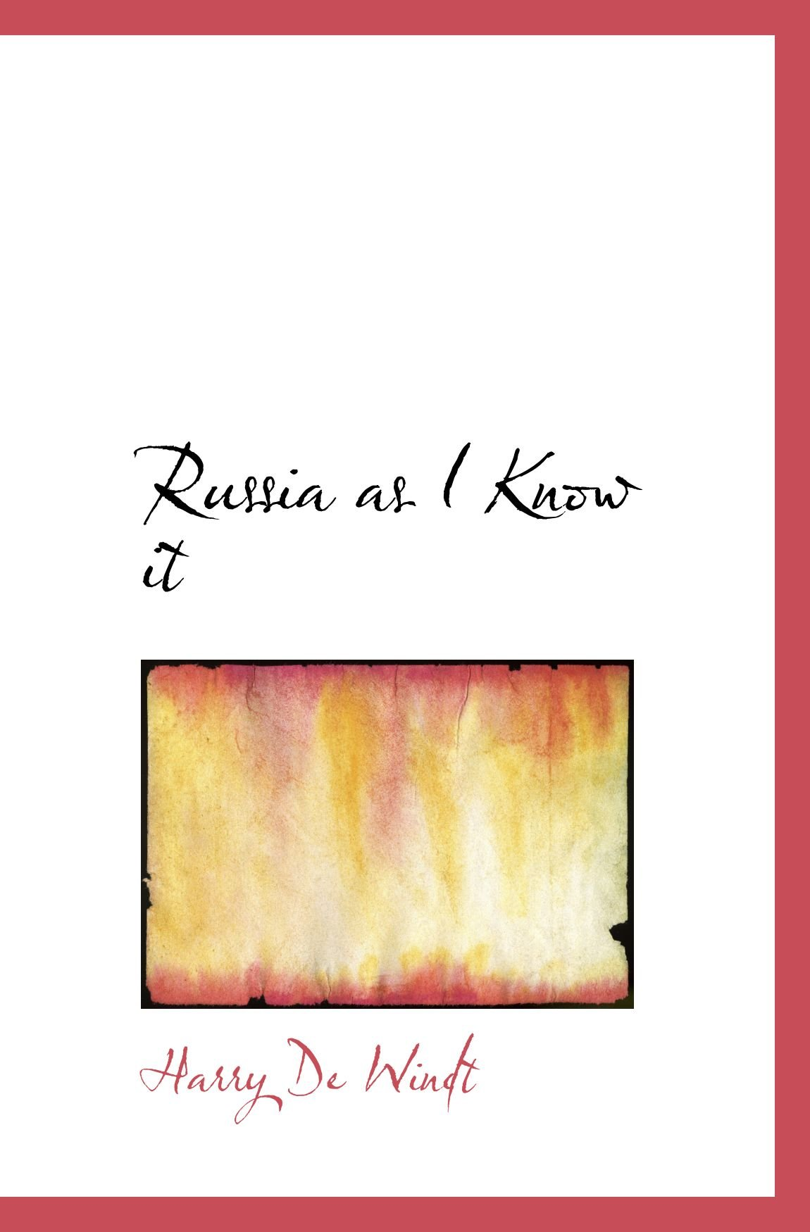 Download Russia as I Know it PDF