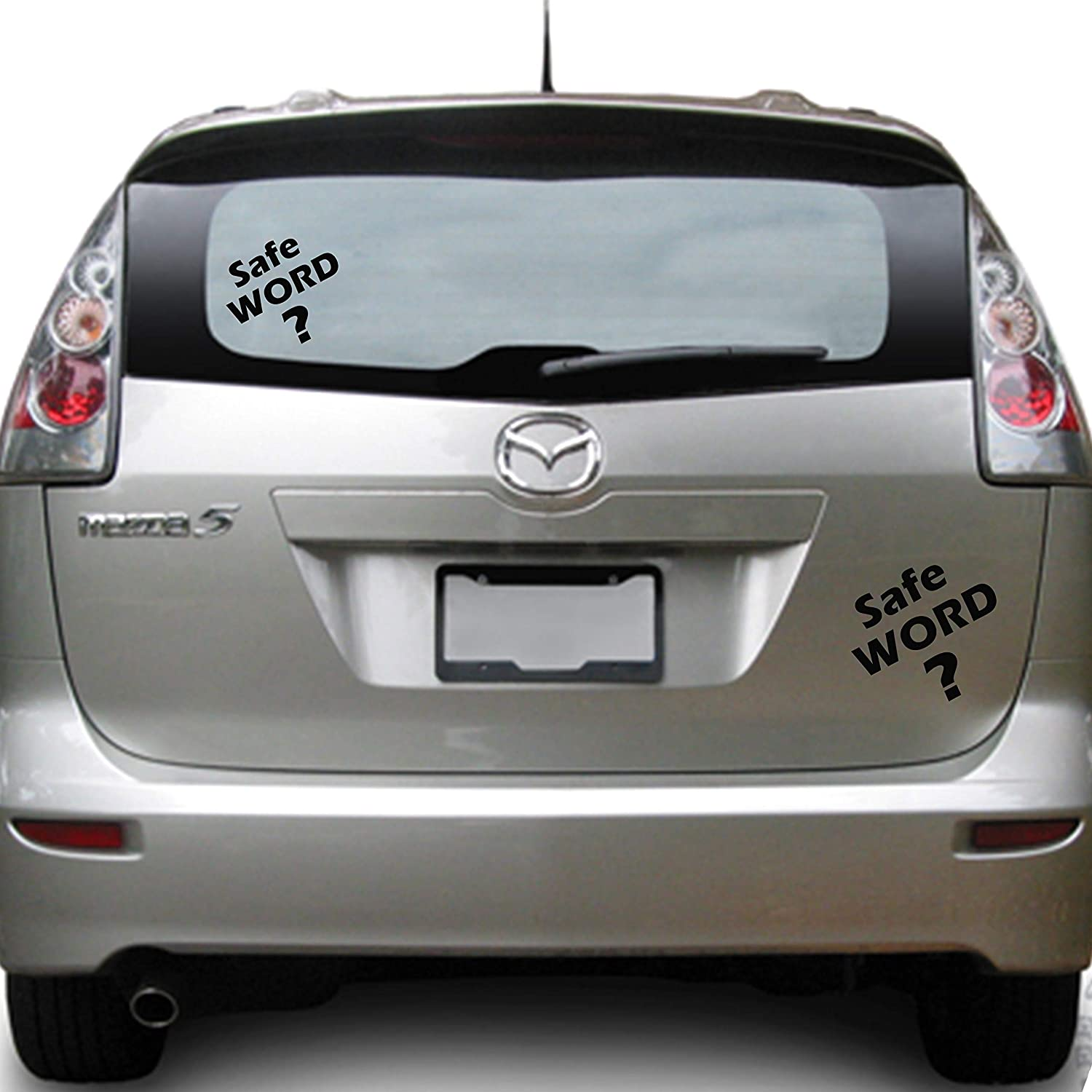 BDSM Safe Word Vinyl Car Window Decal Sticker