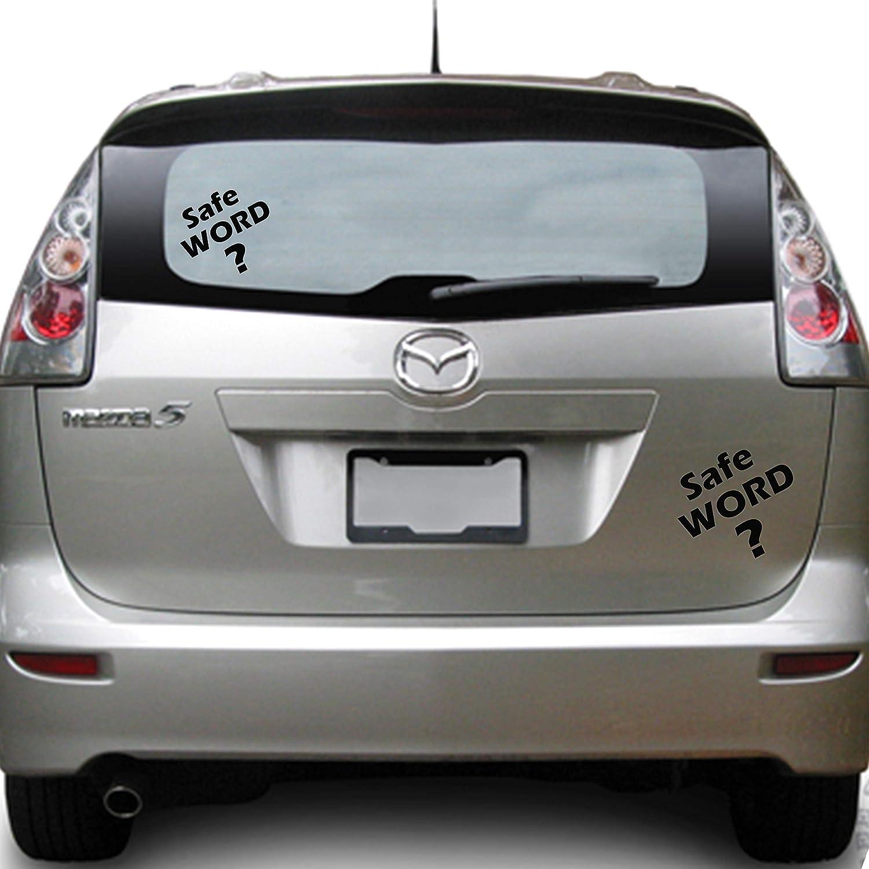 BDSM Safe Word Vinyl Car Window Decal Sticker