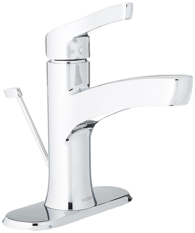 Moen wsl84733 one-handle hoch Arc Badezimmer Wasserhahn, Chrom ...