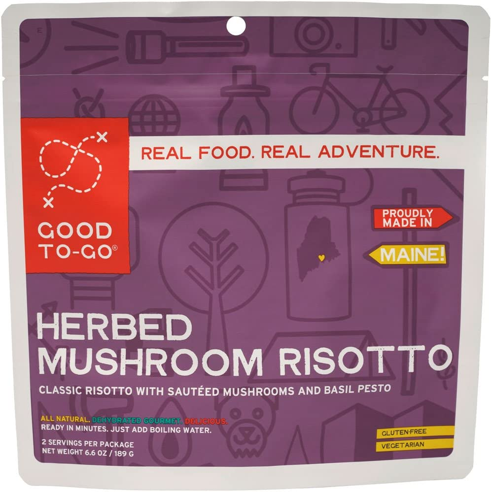 GOOD TO-GO Herbed Mushroom Risotto | Dehydrated Backpacking and Camping Food | Lightweight | Easy to Prepare