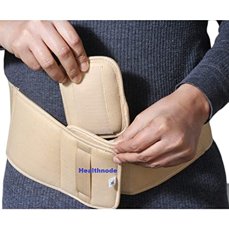 Healthnode™ Umbilical Hernia Belt for Men and Women - Abdominal Support  Binder with Compression Pad - Navel Ventral Epigastric Incisional and Belly