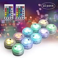 Herefun Mini LED Luz Sumergible, 10 Piezas Luces