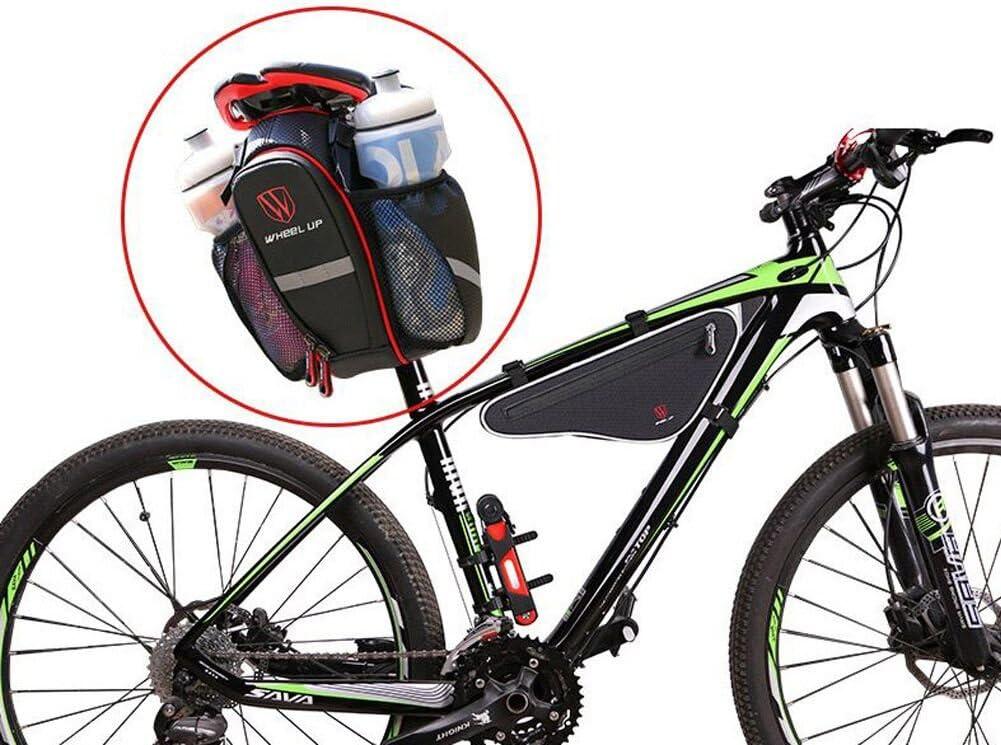 Extrbici Bicycle strap-on sella impermeabile mountain bike strada della sella borsa Due tasche porta acqua grande capacit/à per strumenti di riparazione bici pieghevole accessori Cycling Supplies