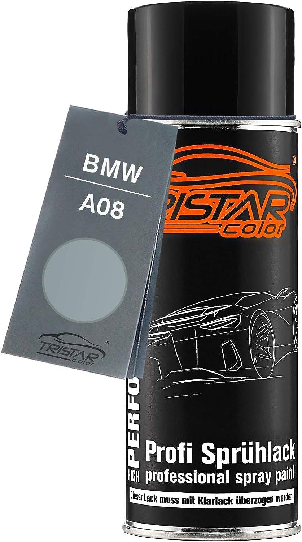 Tristarcolor Autolack Spraydose Für Bmw A08 Silbergrau Metallic Basislack Sprühdose 400ml Auto