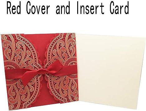 Amazon Com 1pcs Sample 4 Color Laser Cut Wedding Invitations