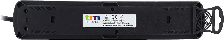 TM Electron TMUAD206BK, Base Múltiple de 6 Tomas con Interruptor ...