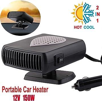 12v 150W Car Windshield Defogger Heater Portable Auto Heater Fan Car Electric Heater Defroster Demister Gray
