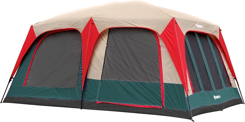 GigaTent Mt Craylock 8-10 Sleeper Family Dome Tent 15-Feet x 10-Feet x 75-Inch