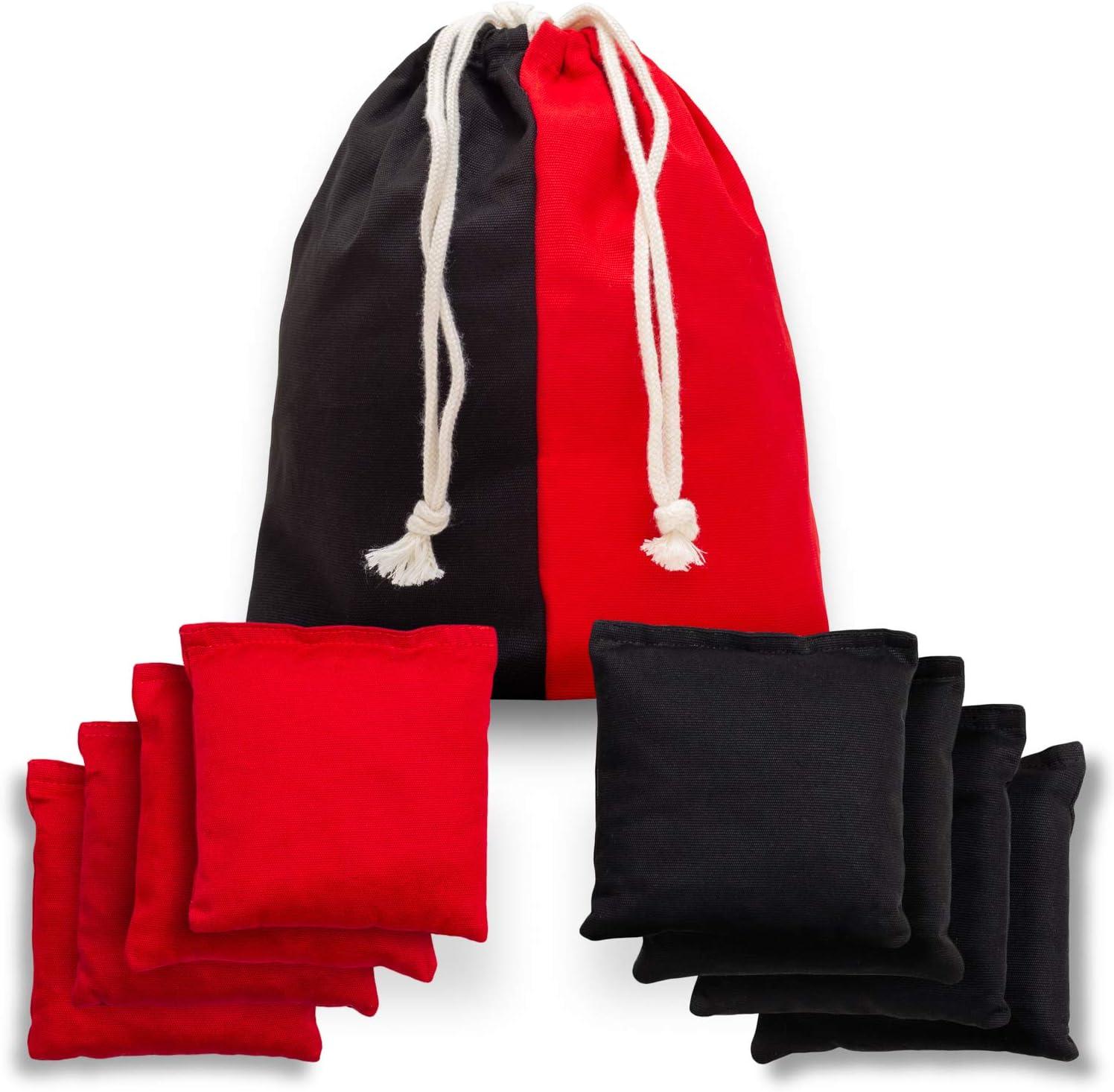 wetterfest doppelt gen/äht TOYSHARING Cornhole Sitzs/äcke aus Baumwolle 8 St/ück strapazierf/ähig Maisloch Taschen