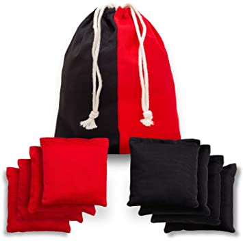 Amazon.com: Cornhole - Juego de 8 bolsas de algodón con ...