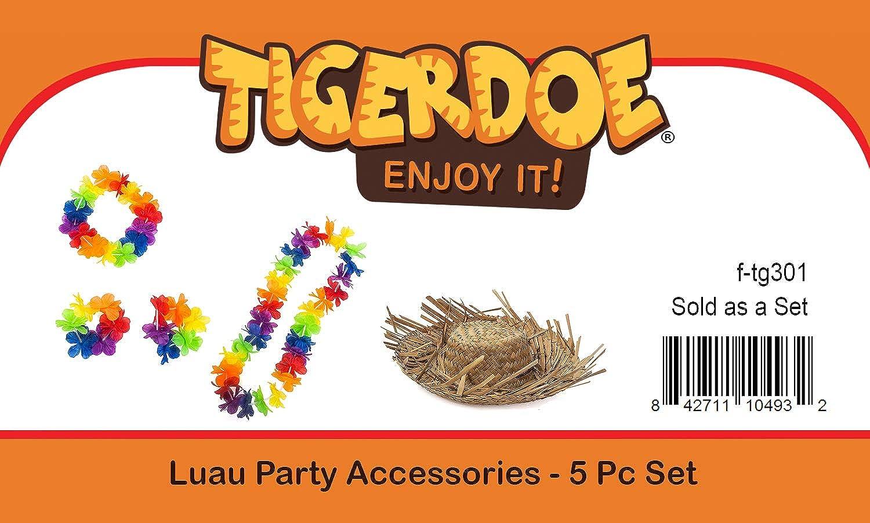 Hawaiian Costume Luau Costume 5 Pc Set Tigerdoe Luau Party Leis Costume Tropical Costumes Hula Accessories