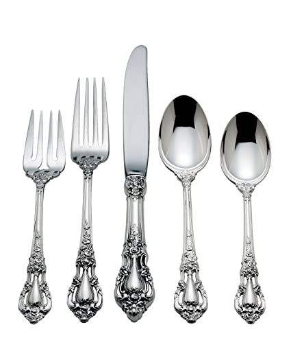 Amazon.com | Lunt Eloquence Sterling Silver 5-Piece Place Setting ...