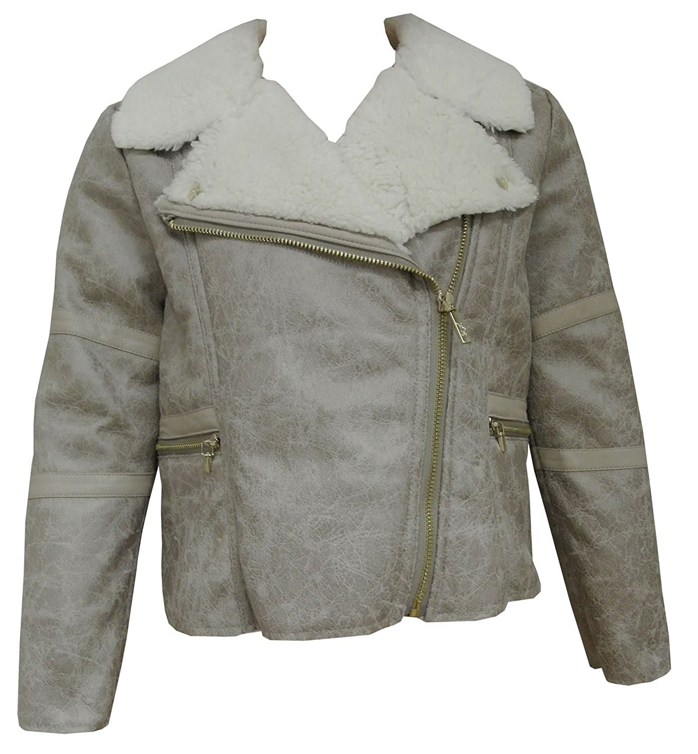 d8dc5671c mayoral - Teens girl faux leather jacket with fur, beige - 7466 ...