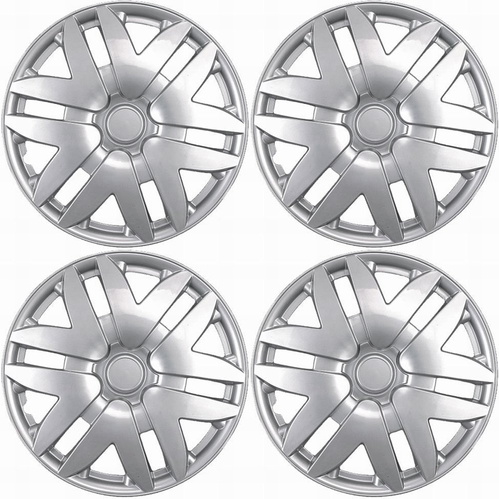Amazon com hubcaps for toyota sienna pack of 4 wheel covers 16 inch 6 spoke snap on silver automotive