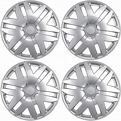 16 inch Hubcaps Best for 2004-2010 Toyota Sienna - (Set of 4) Wheel Covers 16in Hub Caps Silver Rim Cover - Car Accessories for 16 inch Wheels - Snap On ...