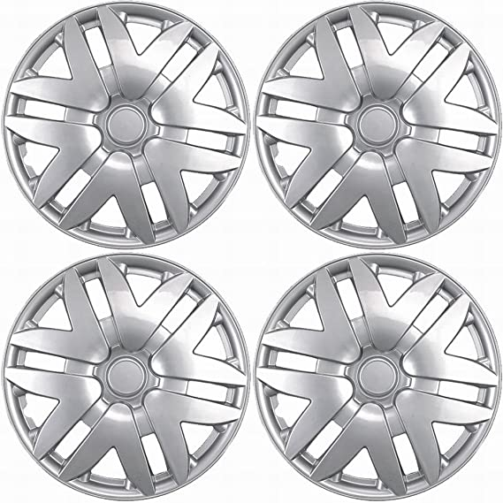 Amazon.com: 16 inch Hubcaps Best for 2004-2010 Toyota Sienna - (Set of 4) Wheel Covers 16in Hub Caps Silver Rim Cover - Car Accessories for 16 inch Wheels ...
