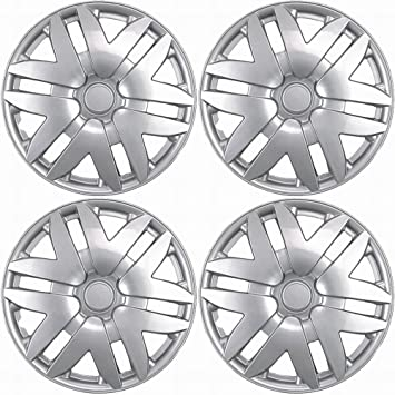 Hub-Caps for Select Toyota Sienna (Pack of 4) 15 Inch Silver Wheel