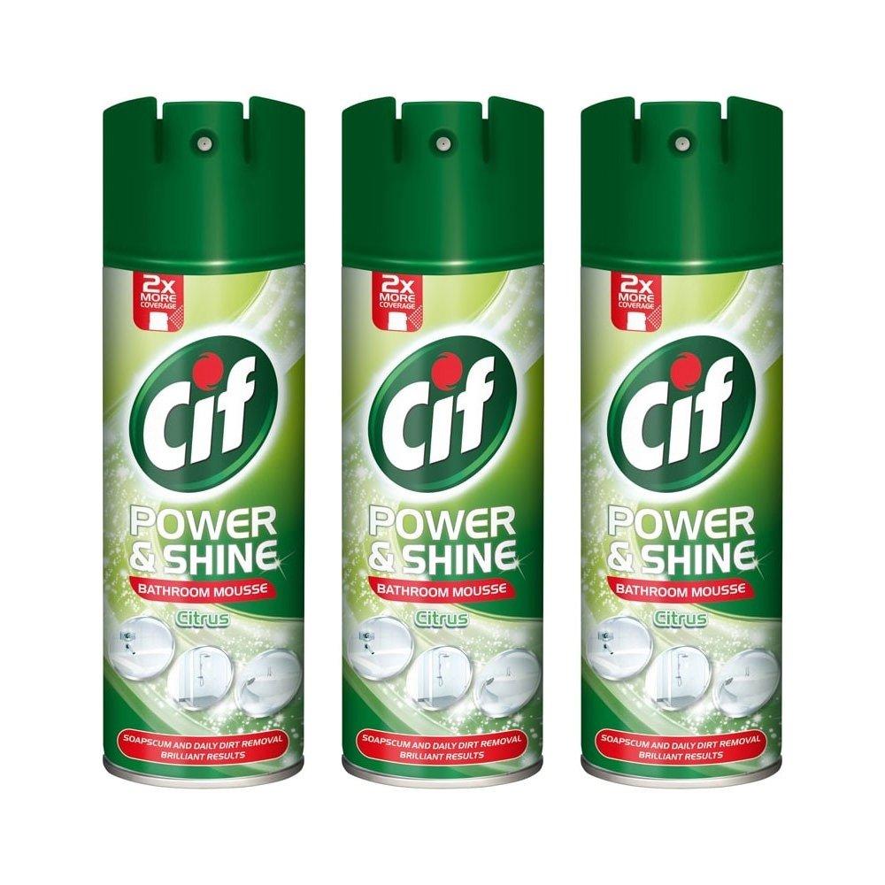 Cif Citrus Fresh Bathroom Mousse 500ml Pack of 3