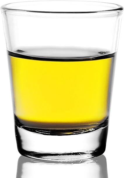 REATR Vaso de Tequila sin Plomo Vaso de Bebida Vaso de Comida Segura Líquida Vasos de Chupito Claro - Vodka, Sambuca, Ron, Licor, Whisky de Vaso Mini ...