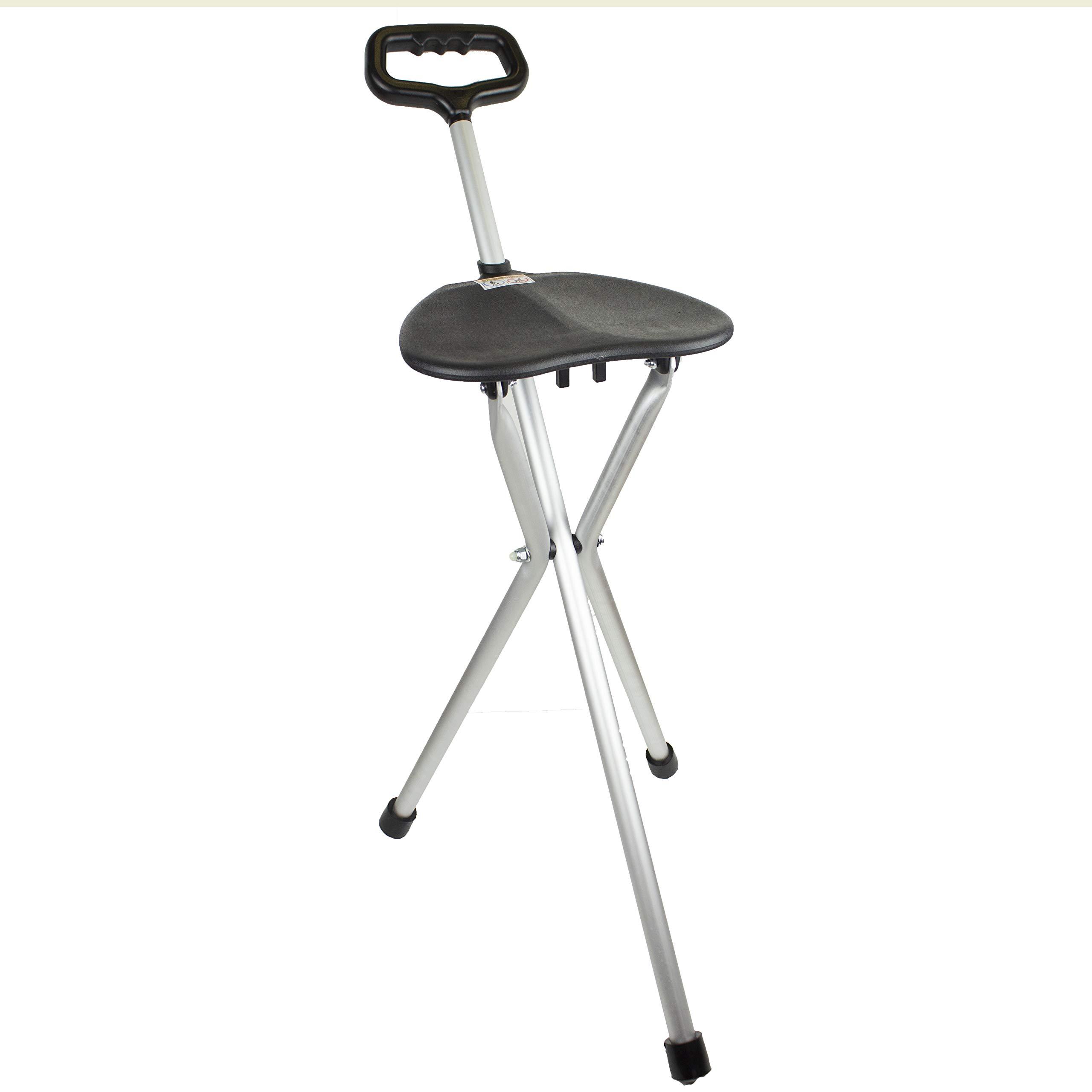 Bastón de aluminio con asiento plegable product image