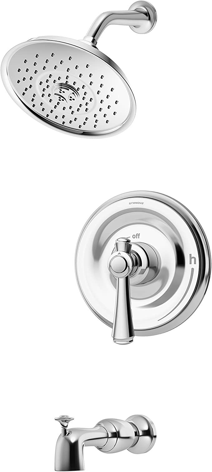 Symmons 5402 2 0 Trm Degas Single Handle Tub And Shower Faucet Trim In Chrome Valve Not Included Amazon Com
