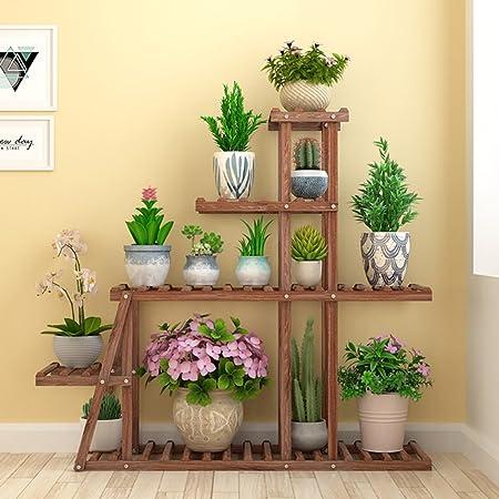 Estantes para Plantas/Estante de Madera para jardín para macetas de Plantas Soporte de Interior o