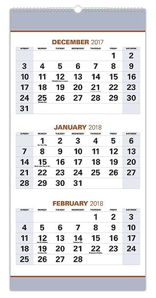 2018 Wall Calendar Runs From NOW Through January 2019