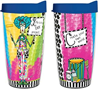 product image for Smile Drinkware USA- Dolly Mama-Dolly Mamas Life is a DIY Project 16oz tumbler with lid and straw
