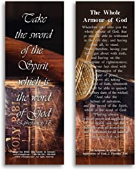 eThought Bible Verse Cards, by - Ephesians 6:17 - The Whole Armour of God - Pack of 25 Bookmark Size Cards (BB-B049-25)