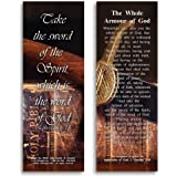 Bible Verse Cards, by eThought - Ephesians 6:17 - The Whole Armour of God - Pack of 25 Bookmark Size Cards for reading, study, gifts and encouragement.