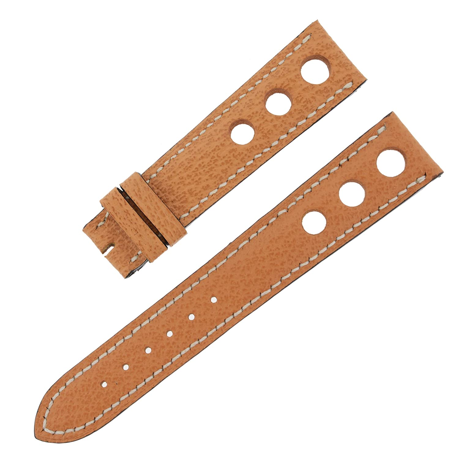 Chopard 19-16mm Genuine Hazelnut Leather Men's Watch Band