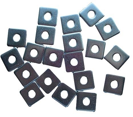 SENDILI Rondella Quadrata 20 Pezzi Rondelle Piane in Acciaio Inossidabile A2 per Viti e Bulloni Metrici M3*10 * 1mm