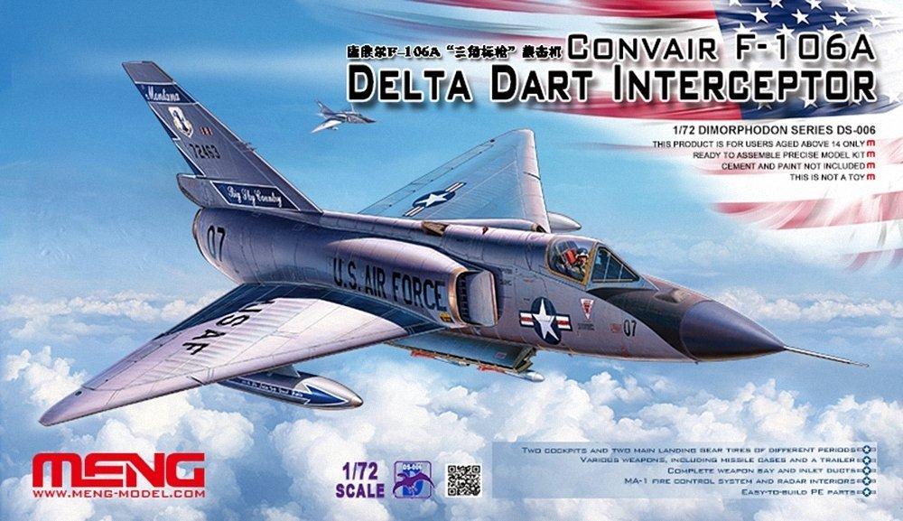 MENG 1: 72Scale Convair fscale106a Delta Dart Interceptor modello Kit DS-006