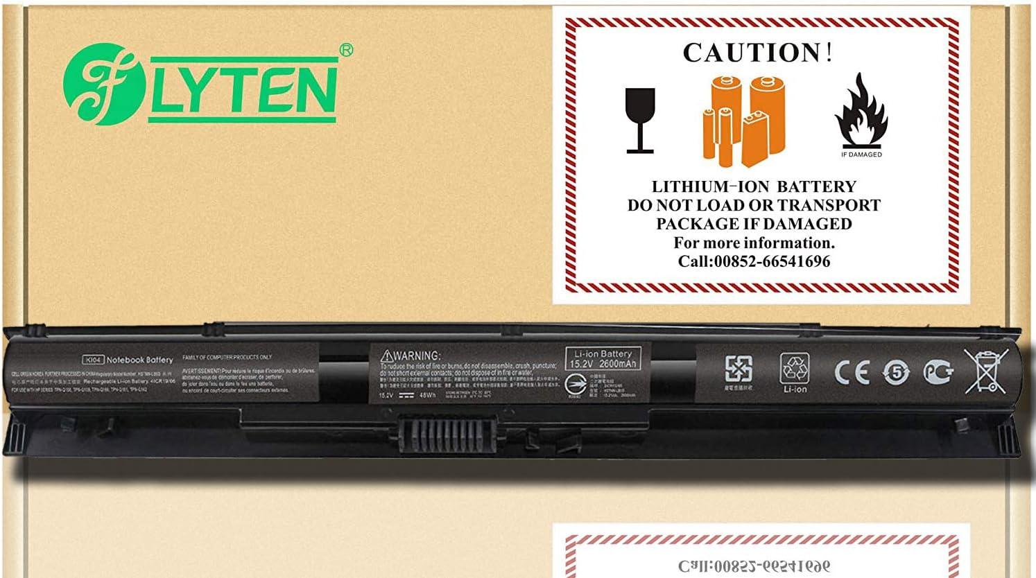 FLYTEN KI04 Battery for HP Pavilion 14-ab 15-ab 15-an 17-g Series 800009-421 800010-421 800049-001 800050-001 HSTNN-LB6S HSTNN-LB6R HSTNN-DB6T TPN-Q158 TPN-Q159 Notebook
