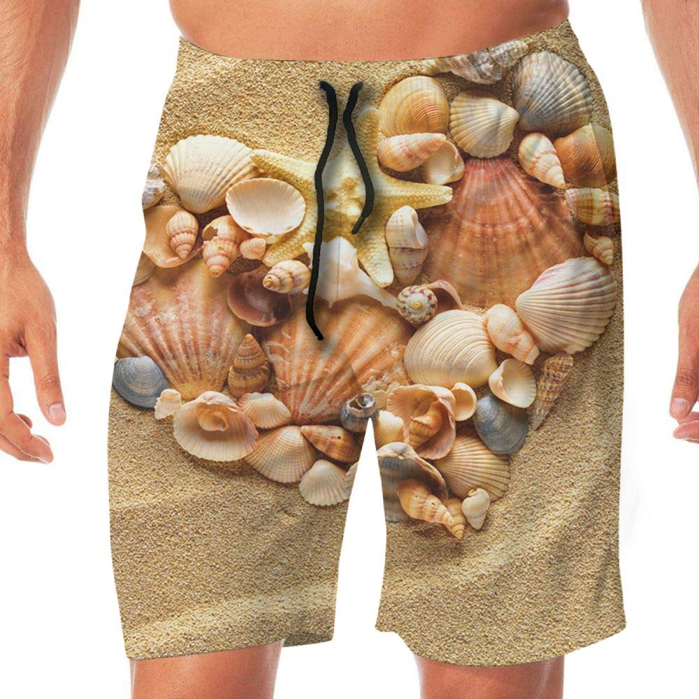 Haixia Men Quick Dry Beach Shorts The Sand Shore was A Love of Stones and Shel by Haixia (Image #1)