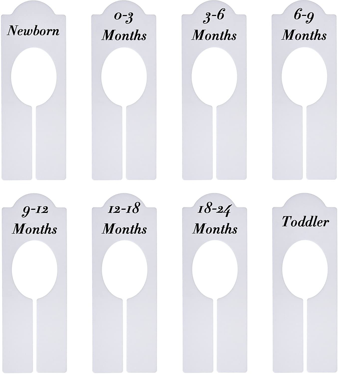 Baby Closet Size Dividers Double Side Baby Closet Dividers for Baby Clothes Girl Plastic Nursery Closet Dividers Closet Organizer//Hangers Dividers