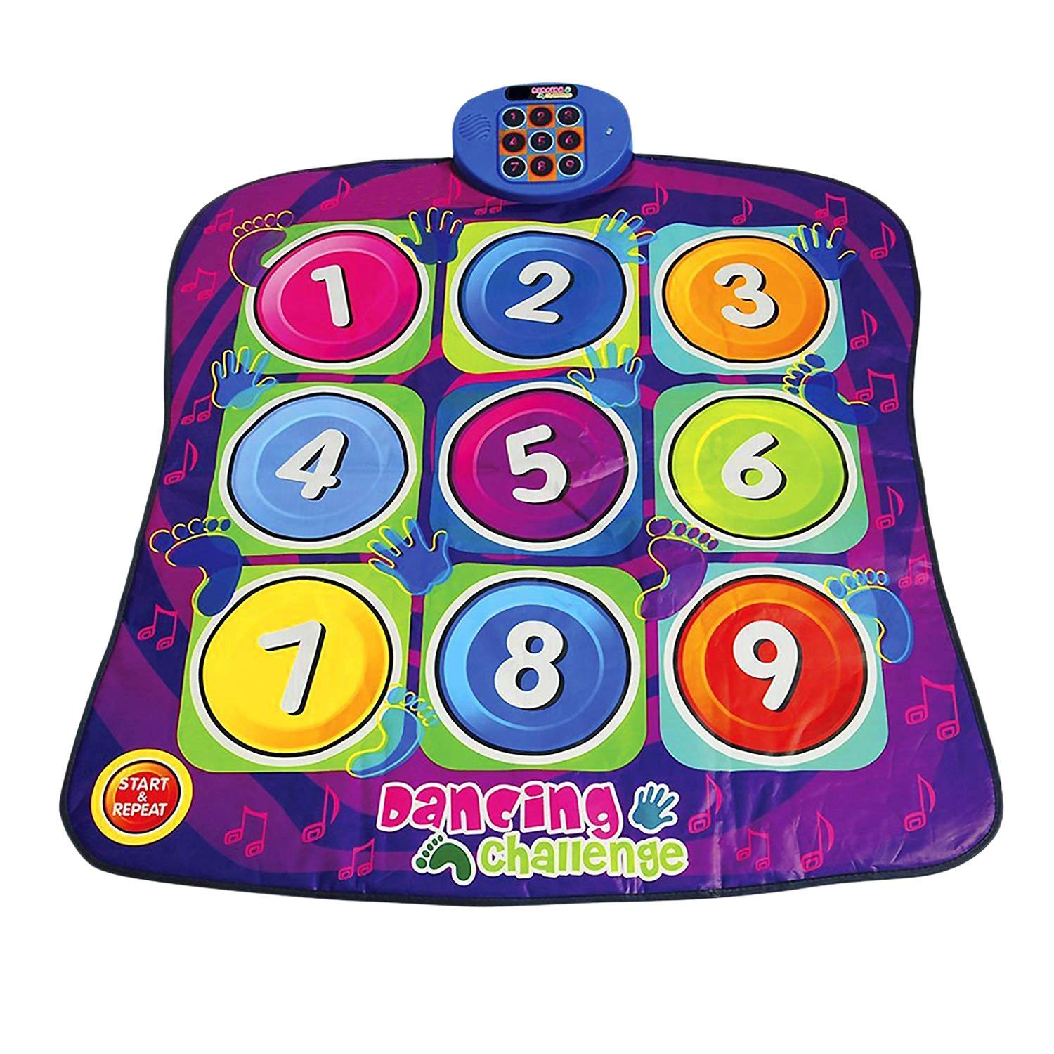 TOOGOO Toy Dancing Challenge Children Early Education Puzzle Game Blanket