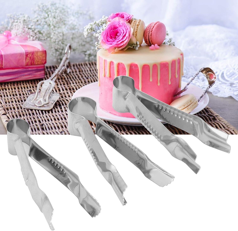 FOKH Herramienta para Decorar Pasteles, engarzadora portátil de Acero Inoxidable para Pasteles, 3 Piezas a Prueba de óxido para Cubos de azúcar de Frutas Blandas