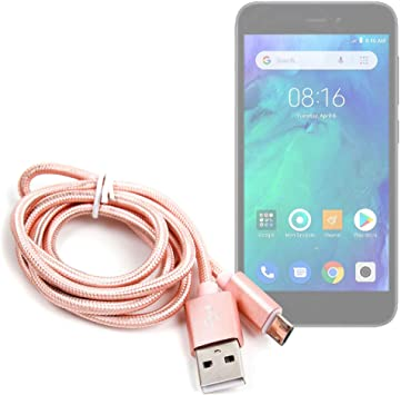 DURAGADGET Cable USB a Micro USB en Color Rosa. para Carga y ...