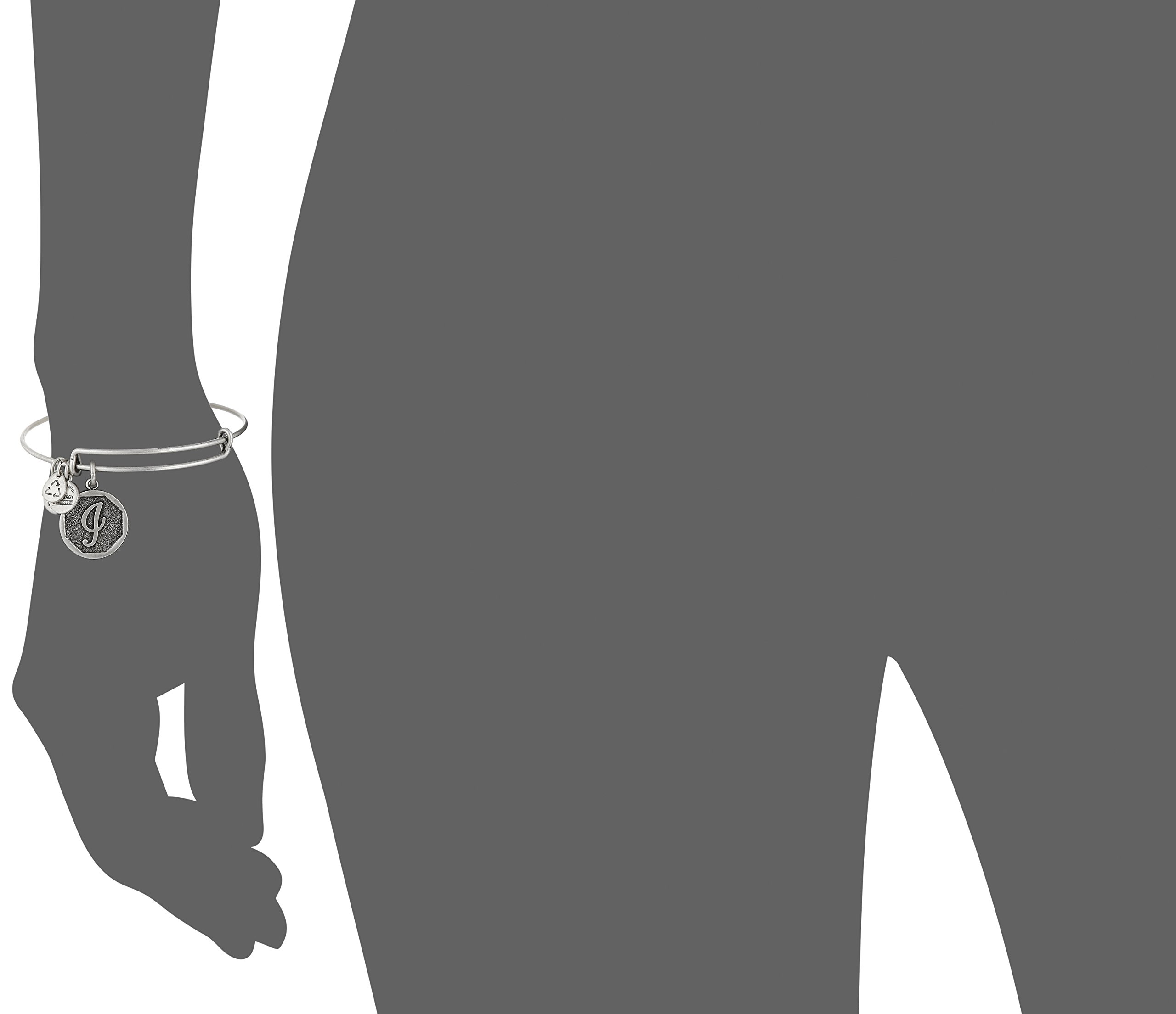 Alex and Ani Rafaelian Silver-Tone Initial I Expandable Wire Bangle Bracelet, 2.5'' by Alex and Ani (Image #2)