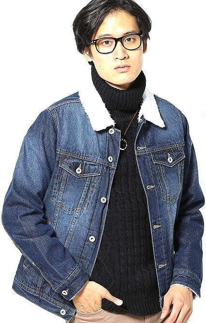 MENZ-STYLE (メンズスタイル)ジャケット メンズ アウター デニムジャケット ボア 長袖 Gジャン