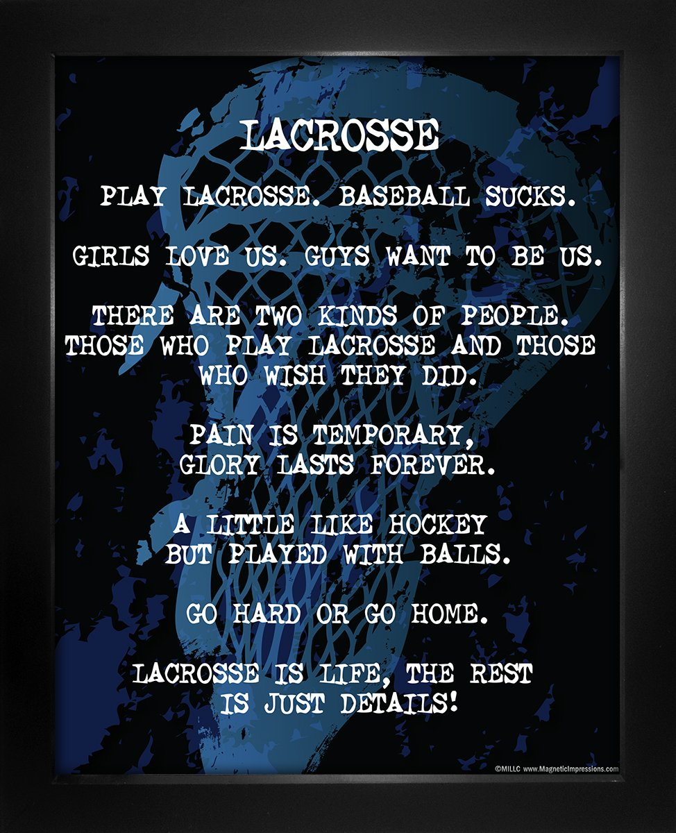 """Framed Lacrosse Player Gritty 8"""" x 10"""" Sport Poster Print"""