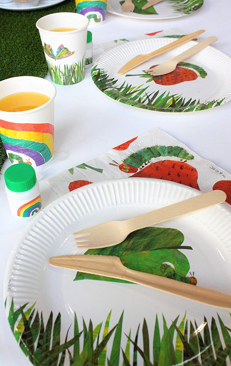 Talking Tables The Very Hungry Caterpillar Kids Birthday Paper Plate (24 Pack), 11, Green by Talking Tables